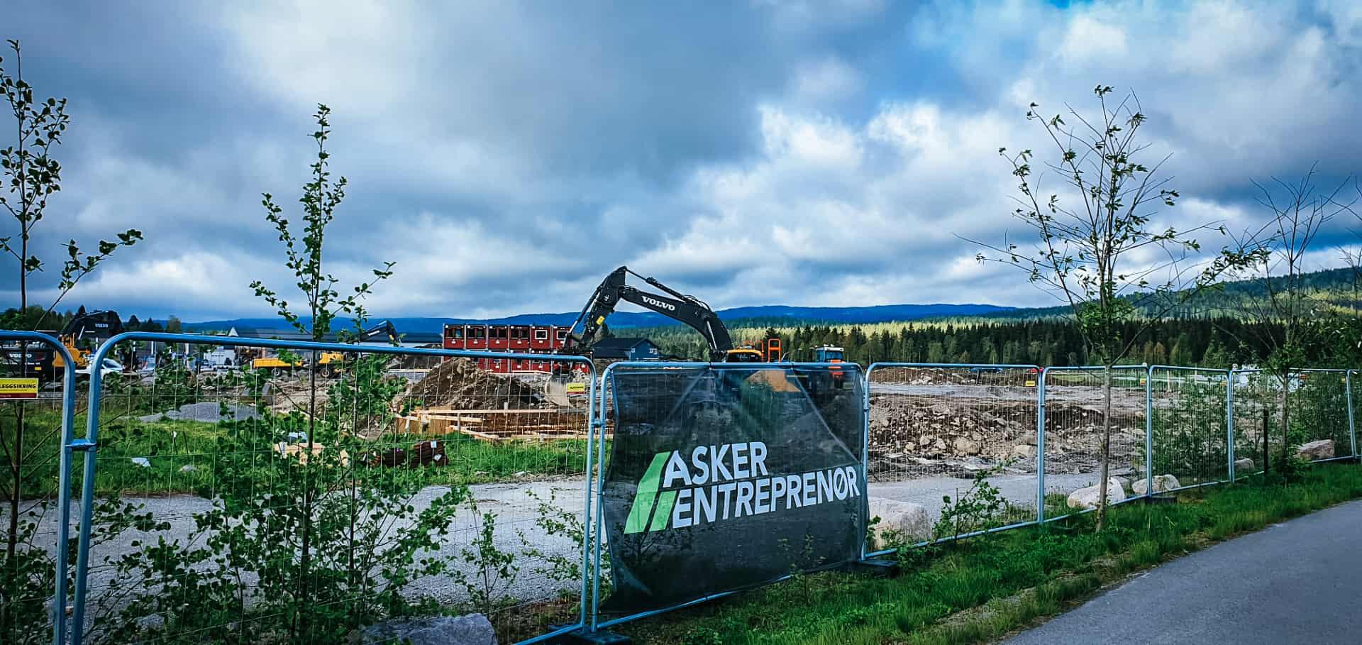 Byggingen av Sagparken Sentrum byggetrinn 1 er i gang!